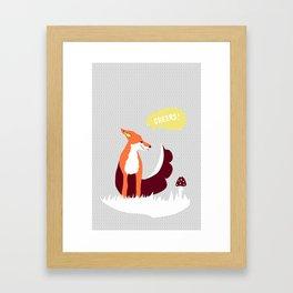 party animals - english fox Framed Art Print