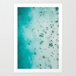 Aerial Beach Print, Beach Photography, Aerial Photography, Blue Ocean Print, Beach Print, Ocean Print, Ocean Waves, Beach Art, Home Decor Art Print