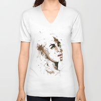jasmine V-neck T-shirts featuring Jasmine by Maurice Zombie