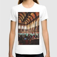 library T-shirts featuring Paris Library by MarianaManina