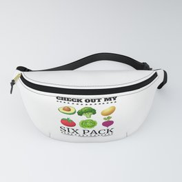 Check Out My Six Pack - Veggies Fanny Pack