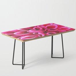 Dahlia Macro Illustration Coffee Table