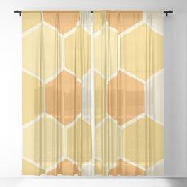 Yellow Honeycomb Sheer Curtain
