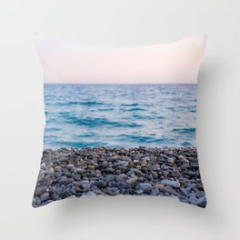 Sand Sea Sky Throw Pillow