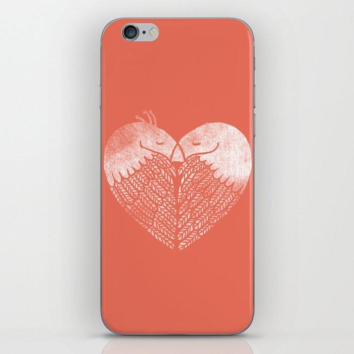 Love birds sitting on a tree iPhone Skin