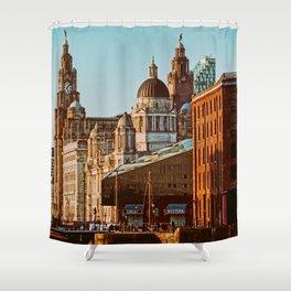 Albert Dock, Liverpool Shower Curtain