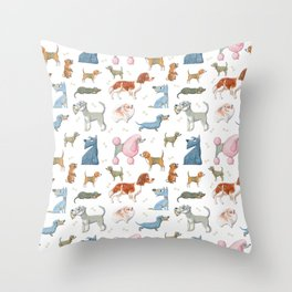 All About Dogs Throw Pillow