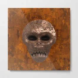 Alien Face Metal Print