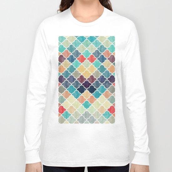 Watercolor Lovely Pattern VVXI Long Sleeve T-shirt