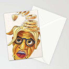 Woody Allen: 7 slices of banana Stationery Cards
