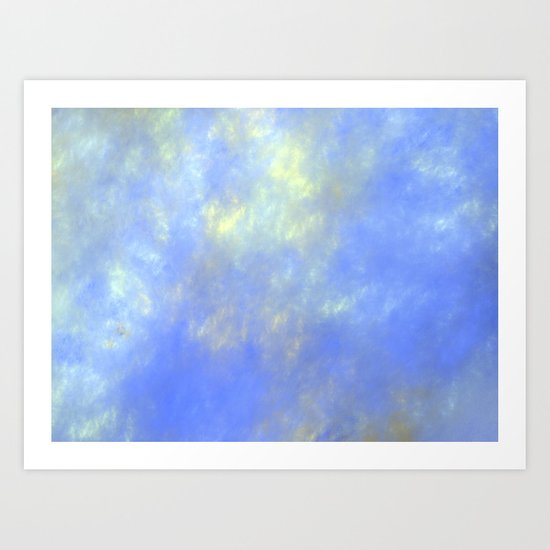 up up in the sky   (A7 B0228) Art Print