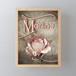 Personalized Antique Rose Framed Mini Art Print