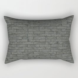 Grey Stone Bricks Wall Texture Rectangular Pillow
