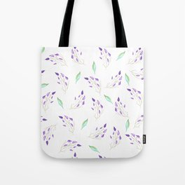 Mint and Leaves Tote Bag