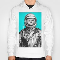 "jfk Hoodies featuring JFK ASTRONAUT (or ""All Systems Are JFK"") by Dan Levin's Objects of Curiosity"