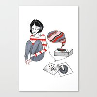 records Canvas Prints featuring records by Bunny Miele