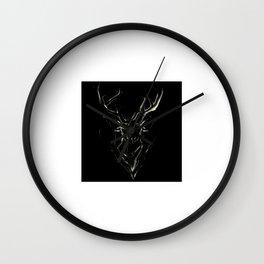 Smoke Deer Wall Clock