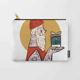 Hipster Santa Carry-All Pouch