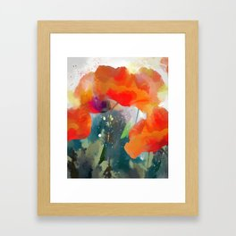 Poppies  2017 Framed Art Print