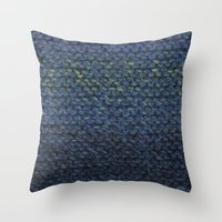 knit Throw Pillows featuring Knit  by SarahKdesigns