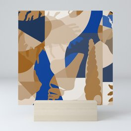 Beach Vibes - Blue Modern Abstract ByBrije Mini Art Print