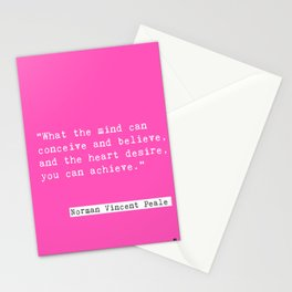 Norman Vincent Peale quote Stationery Cards
