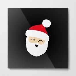 Smiling Santa Face Metal Print