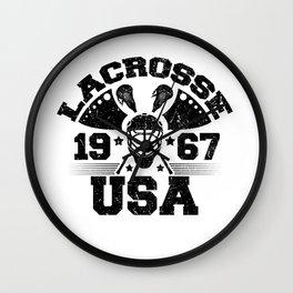 USA Lacrosse 1967 Lacrosse Player Wall Clock