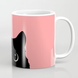 Sneaky black cat Coffee Mug