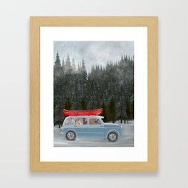 winter holiday Framed Art Print