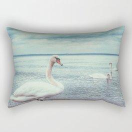Swan 3 Rectangular Pillow
