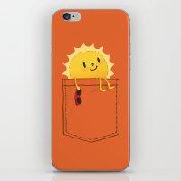 sunshine iPhone & iPod Skins featuring Pocketful of sunshine by Picomodi