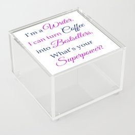 Coffee into Bestsellers Acrylic Box