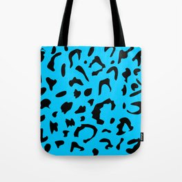 Leopard Print Turqoise Rockabilly Punk Tote Bag
