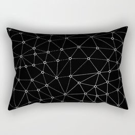 African Triangle Black Rectangular Pillow