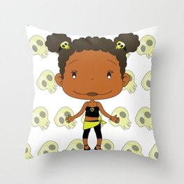 """Holly Rocket - """"Be Cool"""" DeeDee Cosmos Throw Pillow"""