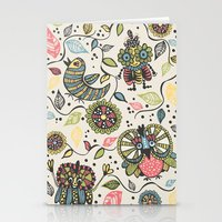 woodland Stationery Cards featuring Woodland by Sarah Doherty