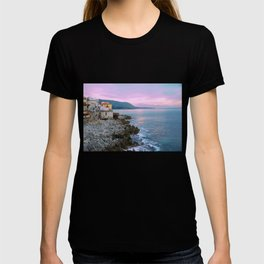 Cefalu Italy Coast Sunset T-shirt