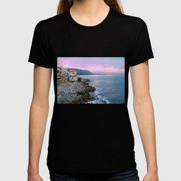 Cefalu Italy Coast Sunset T-shirt
