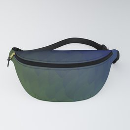 Ombre purple blue green peacock flames Fanny Pack