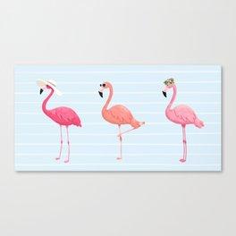 Fancy Flamingos Canvas Print