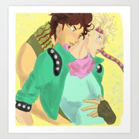 jjba Art Prints featuring CaeJose JJBA by Pruoviare