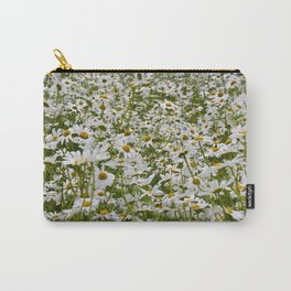 White and Yellow Daisies Carry-All Pouch