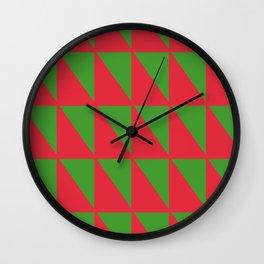 Holiday Geometry Wall Clock