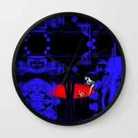 portal Wall Clocks featuring Portal by Spew Jersey