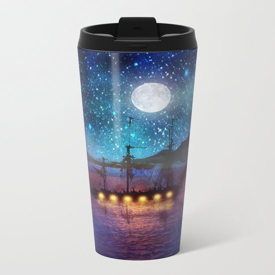 The lights and the Silent Water Metal Travel Mug