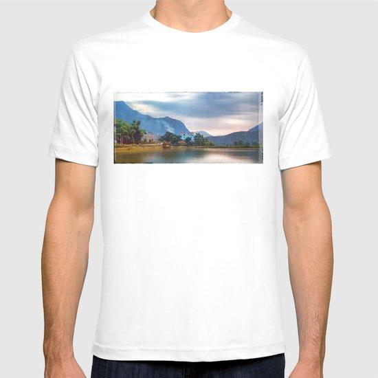 Painted Blue House Landscape T-shirt