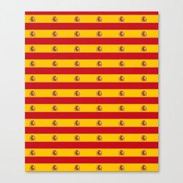 Flag of spain 2-spain,flag,flag of spain,espana, spanish,plus ultra,espanol,Castellano,Madrid,prado Canvas Print