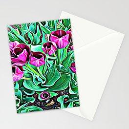 Nurturing Flowers in Pink Stationery Cards