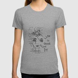 Whimsical Bohemian free-spirit girl inspirational art T-shirt